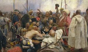 Ilja Repin: Die Saparoger Kosaken schreiben dem Sultan einen Brief